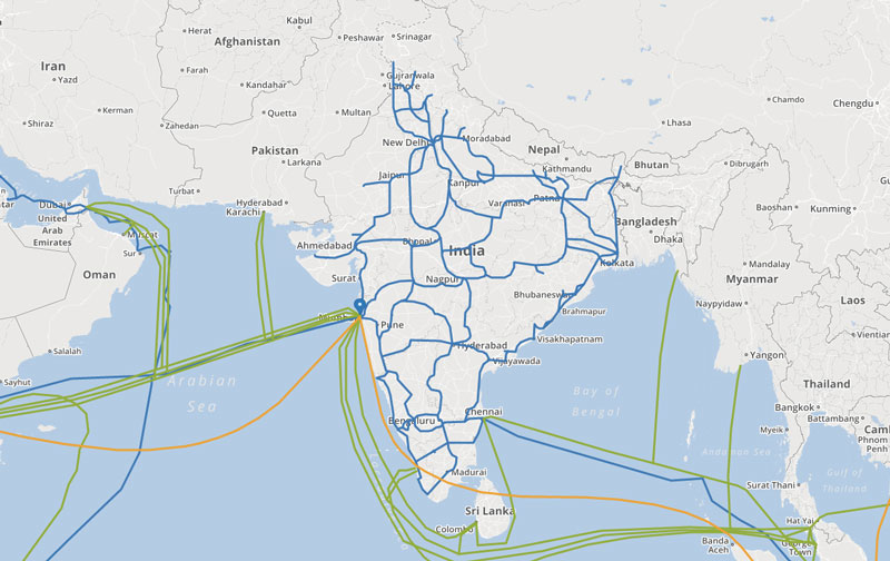 How India is Connected to the Internet?