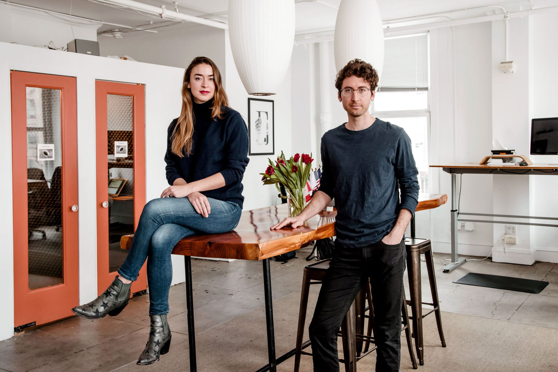 Maran Nelson and Michael Akilian, founders of Clara Labs, in their San Francisco office.
